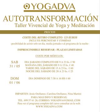 PRECIOS RETIRO DE YOGA Y MEDITACION AUTOTRANSFORMACION