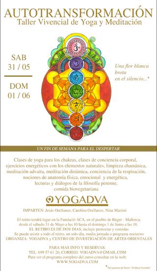 RETIRO DE YOGA Y MEDITACION 31 de mayo 1 de junio 2014
