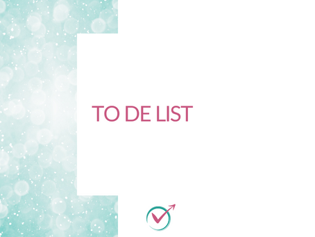 ☑️To De list ☑️