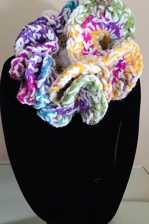 Floral Choker Crochet Scarf