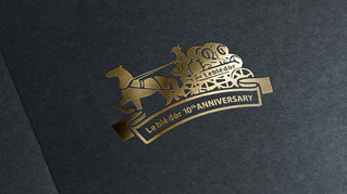 金色三麥-週年標誌設計