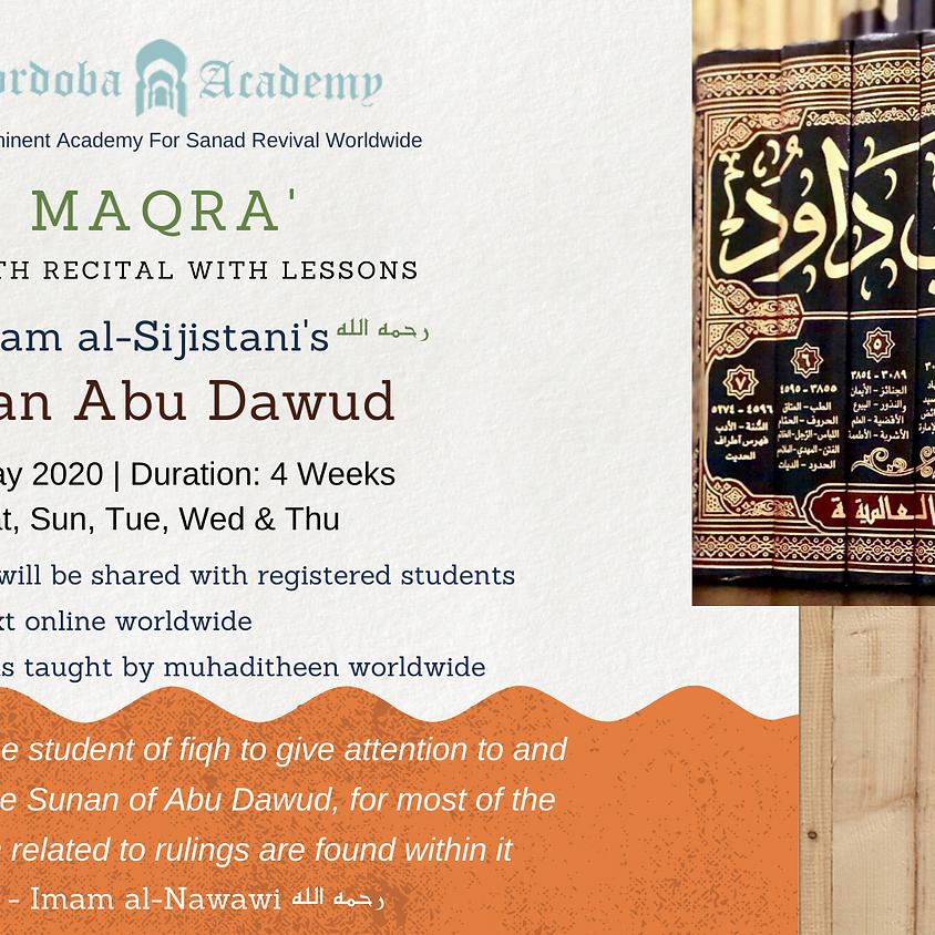 Maqra' : Imam Al Sijistani's Sunan Abu Dawud