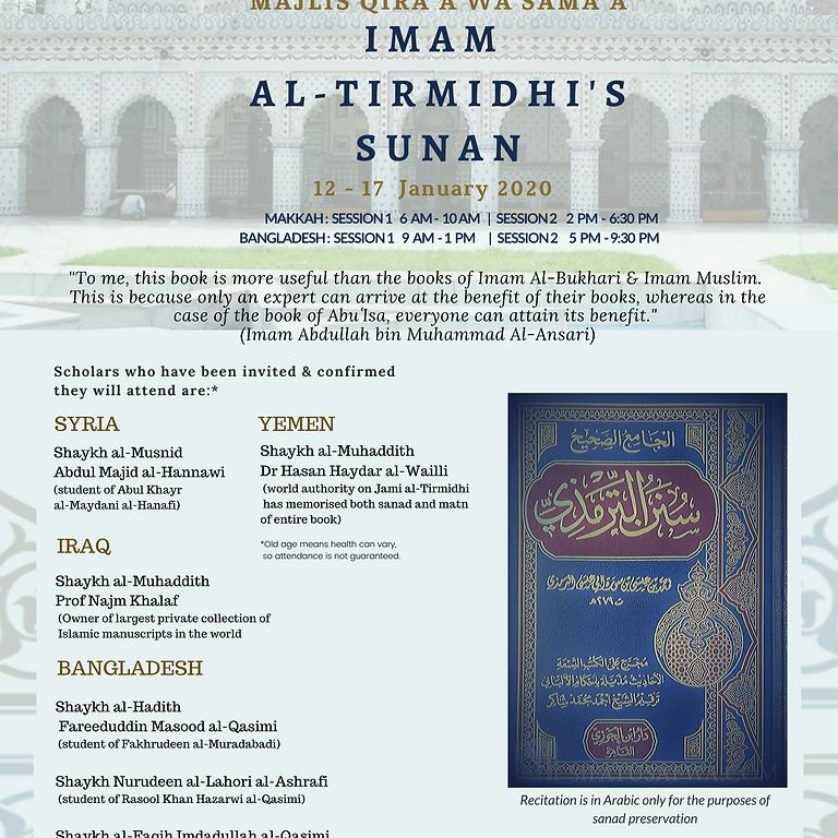 Majlis Qir'a wa Sam'a Imam  al-Tirmidhi's sunnan Online