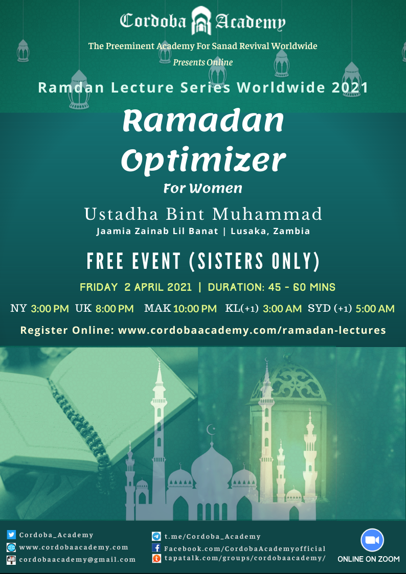 Ramadan Optimizer - Ust. Bint Muhammad