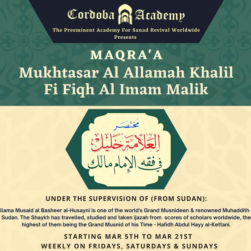 RC: Mukhtasar Al Allamah Khaill Fi Fiqh Al Imam Malik
