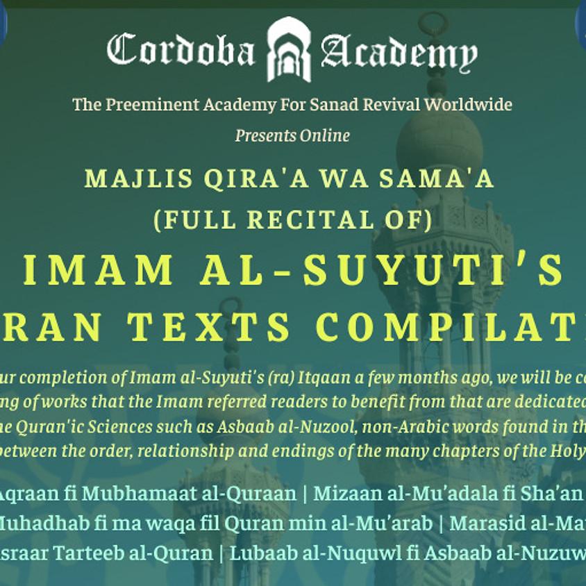 Imam Al Syuti's Quran Texts Compilation (UK)