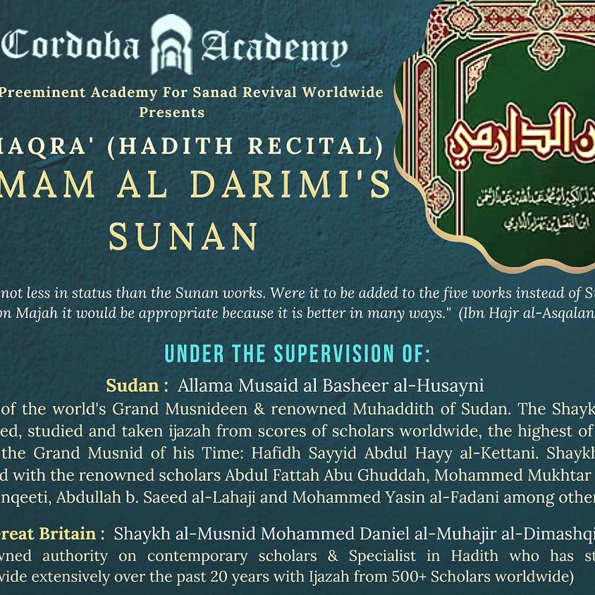 Maqra' Of Musnad Al Darimi (US)