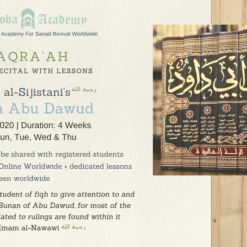 Maqra' : Imam al-Sijistani's Sunan Abu Dawud