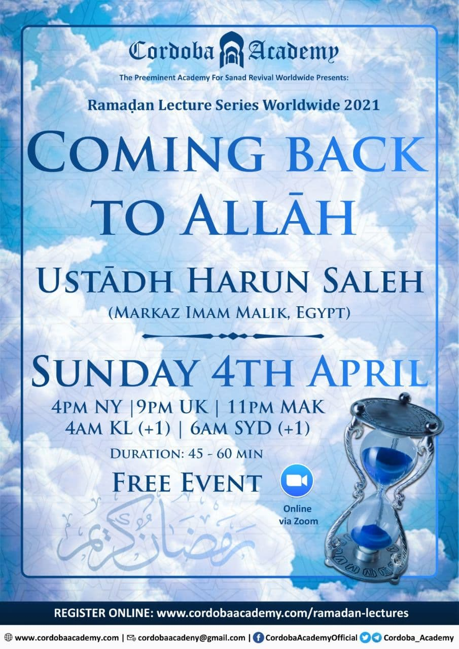 Coming Back To Allah - Ust. Harun Saleh