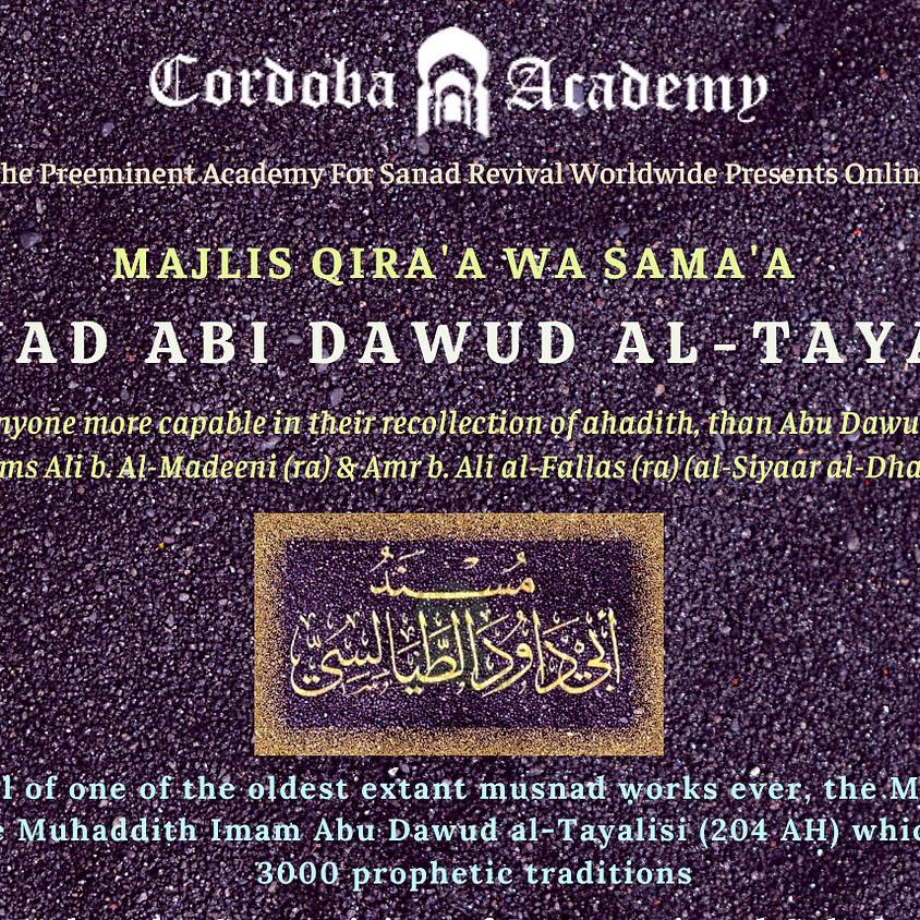 Maqra' Of Musnad Abi Dawud Al Tayalasi