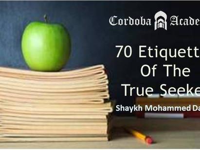 70 Etiquettes of the True Seeker🖊
