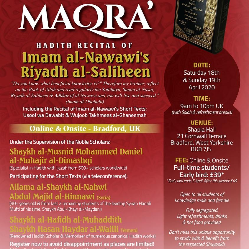 Majlis Qira' Wa Sama' | Hadith Recital of Imam al-Nawawi's Texts