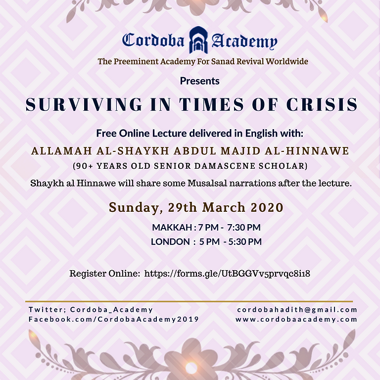 """""""SURVIVING IN TIMES OF CRISIS"""""""