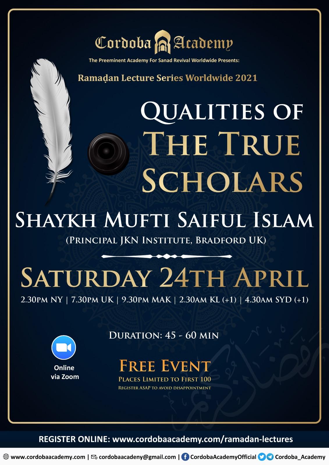 Shaykh Mufti Saiful Islam
