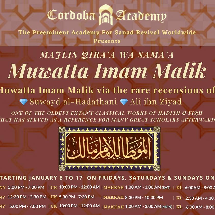 Muwatta Imam Malik [UK] - Jan 2021