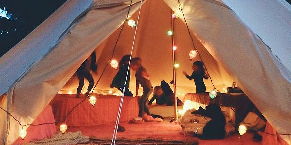 Magical tipi retreat with your kid
