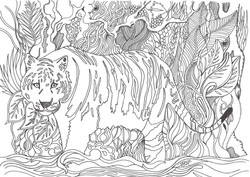 tigre doodle