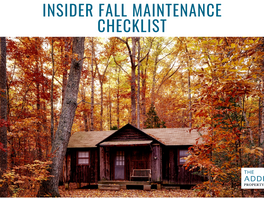 Insider Fall Maintenance Checklist