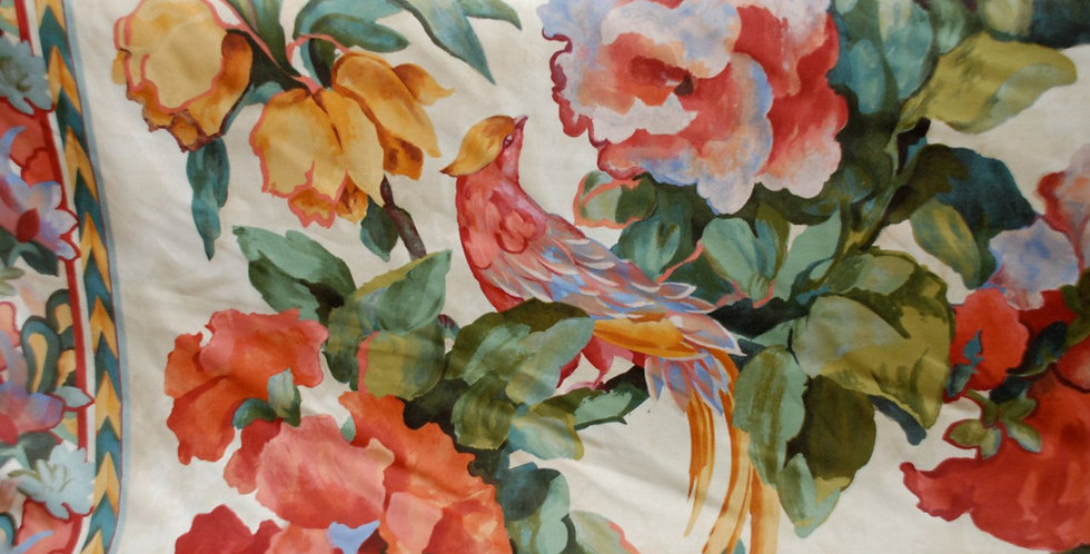 Native Floral Fabric - Bordered Fabric