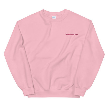Embroidered Generation She Crewneck