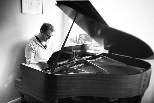 Jon at the piano