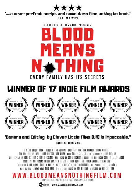 BLOOD MEANS NOTHING POSTER 8th March 201