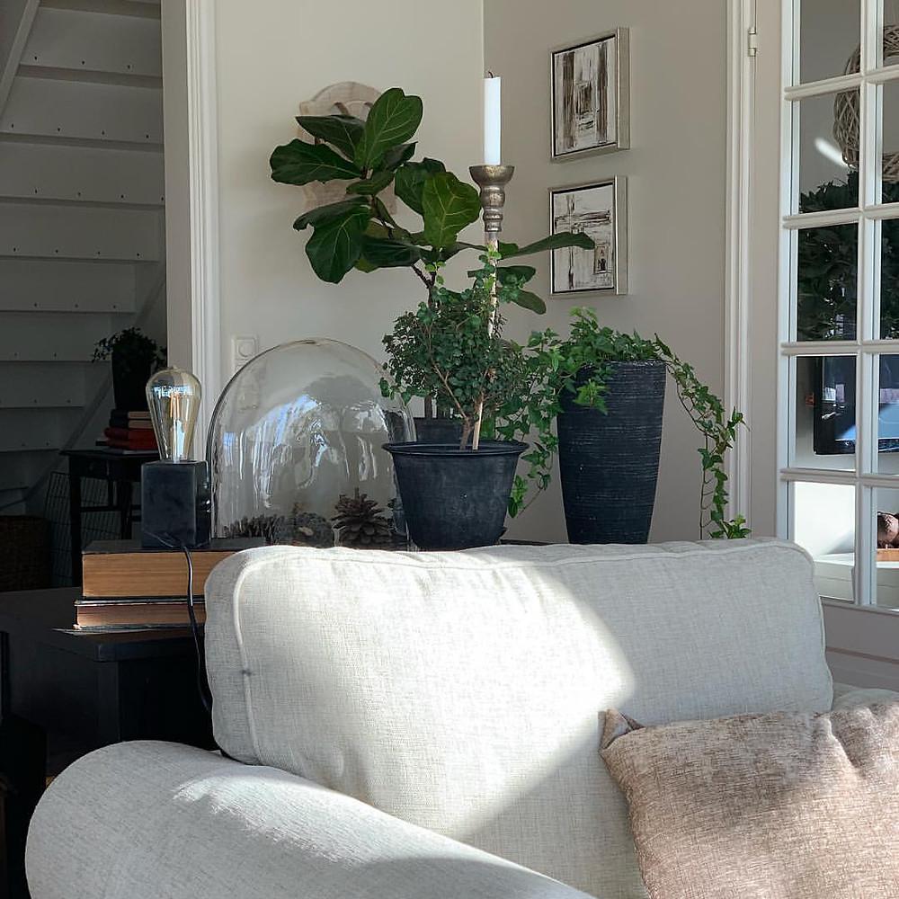 Carin har ett vacker hem i klassisk stil. Givetvis gick jajg husensyn och det var verkligen inspirerande då hon har många fina stilleben. Mer bilder kommer senare då hon ville måla om väggar på sin övervåning och det blev hon peppad till att göra och jag ser framemot resultatet.