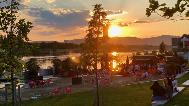 Vienna Sunset Neue Donau