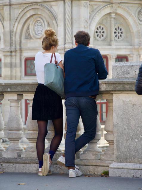 Vienna Albertina Couple facing Staatsoper