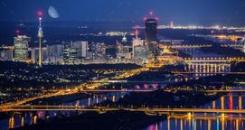 Vienna Danube Skyline
