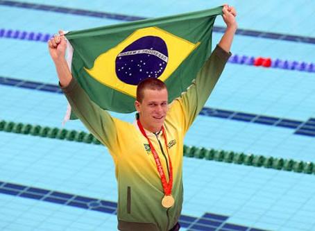 As medalhas olímpicas da natação brasileira