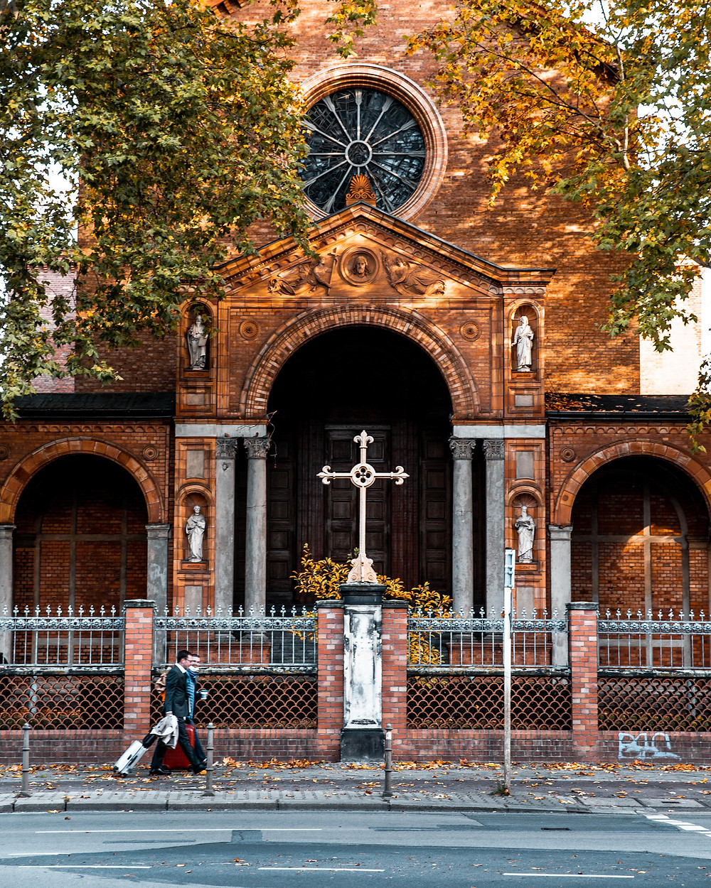 The English Church at the intersection of Kirchstrasse and Alt-Moabit in Moabit, Berlin.