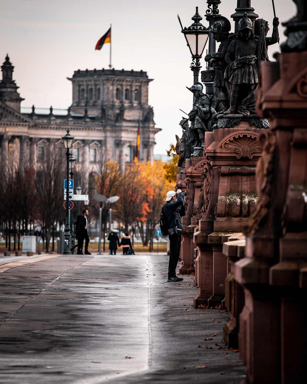 View of Bundestag from Moabit in Berlin, Germany.