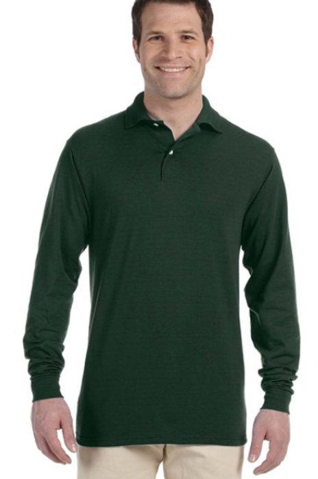 Jerzees 437MLR Long-Sleeve Polo Shirt with Spotshield