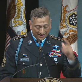AMAZING SPEECH of Medal of Honor recipient Army Staff Sgt. David G. Bellavia