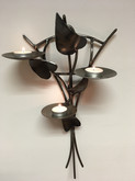 Metal wall mounted tealight holder lit.j