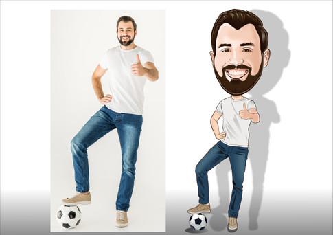 caricaturas de jogador