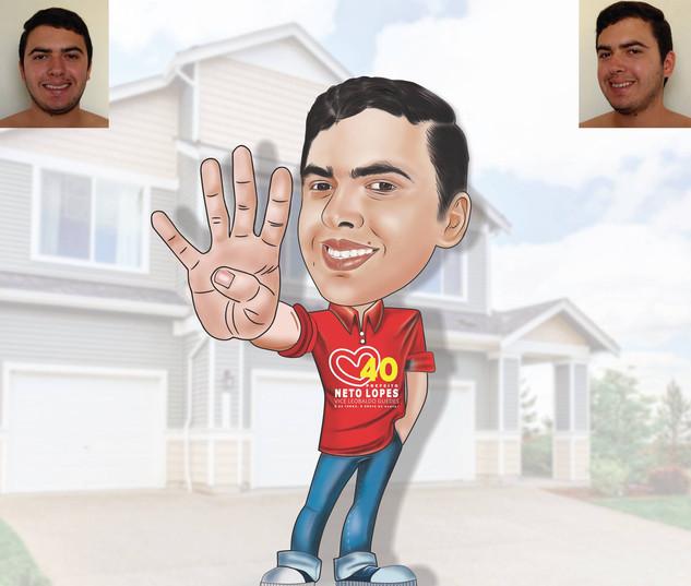 Caricatura de candidato a Prefeito