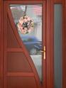 Bejárati ajtó felülvilágítóval és oldalvilágítóval