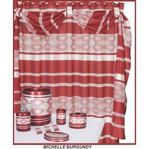 Michelle Burgundy Shower Curtain