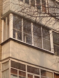 Остекление с отделкой балконов