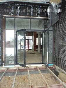 Фото Установка алюминиевых дверей