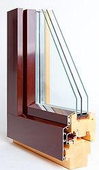 Деревянные окна с алюминиевым окладом