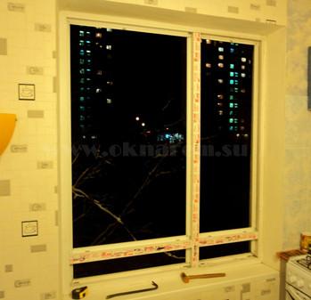 Установка импостов в окно ПВХ