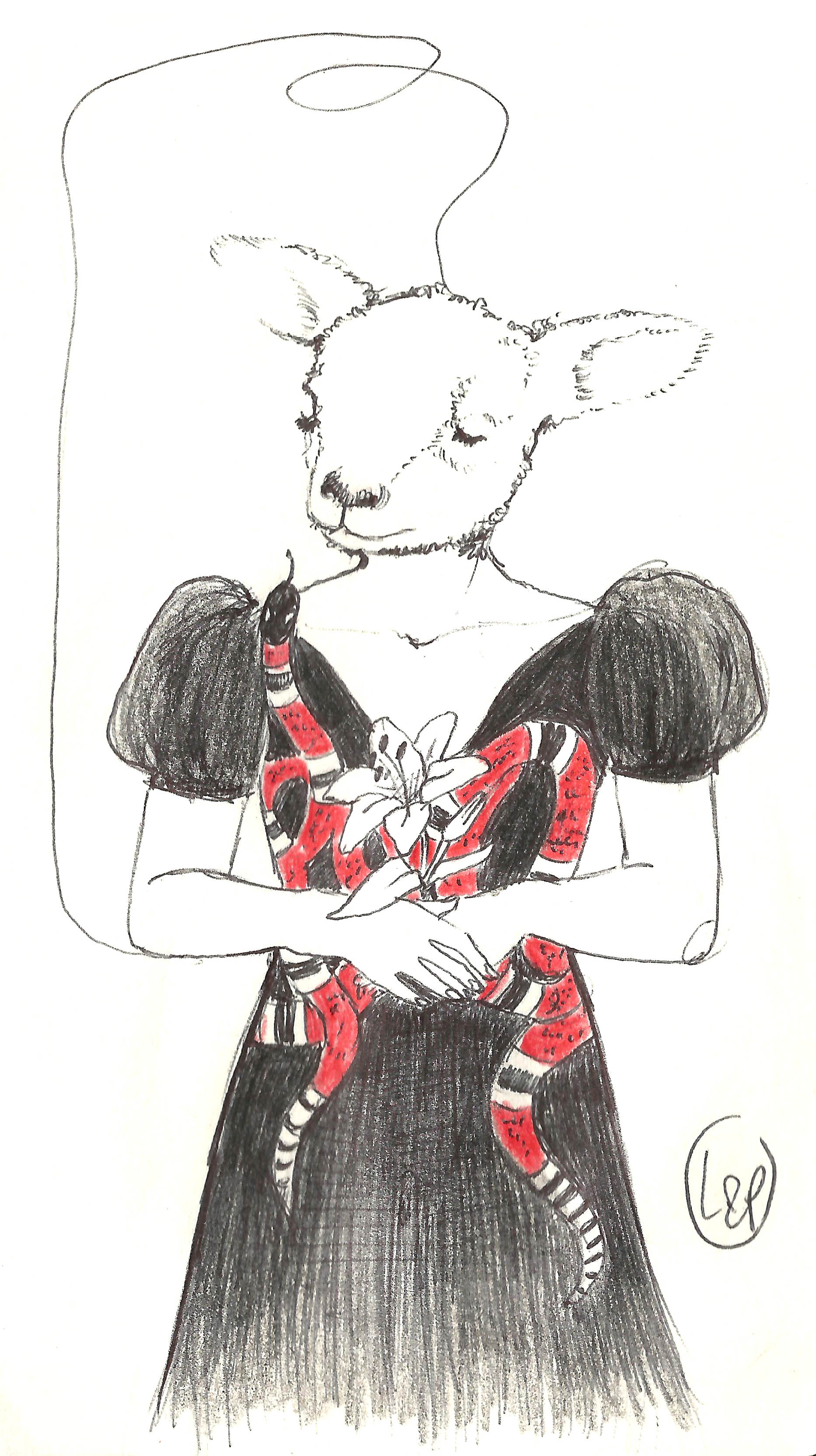 lamb in a gucci dress
