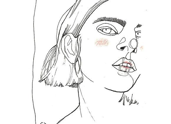 """""""Woman"""" A4 print"""