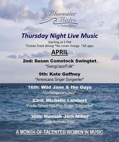 4. April 2020 Thursday Music Calendar.JP