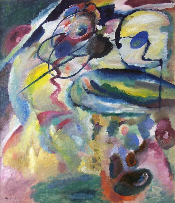 Picture with a Circel - Wassily Kandinsky 1911