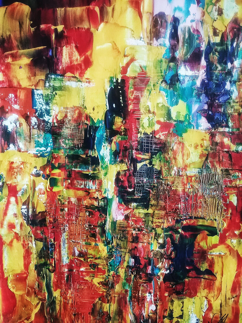 Abstrat paining wall art