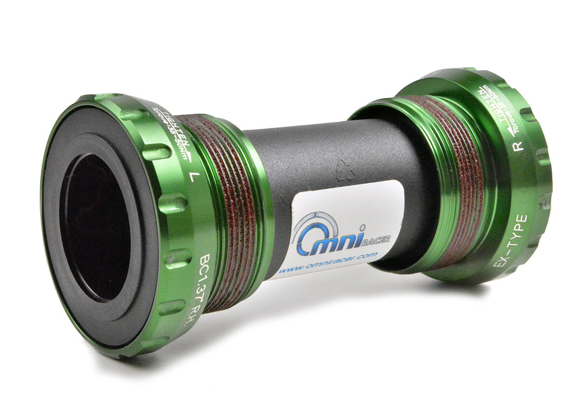 OMNI Racer WORLDS LIGHTEST Ti CERAMIC Bottom Bracket Fit Dura Ace Ultegra GREEN